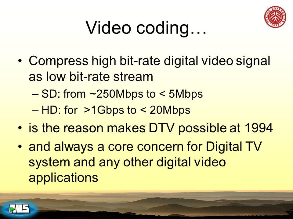 AVS DTV End-End Solution