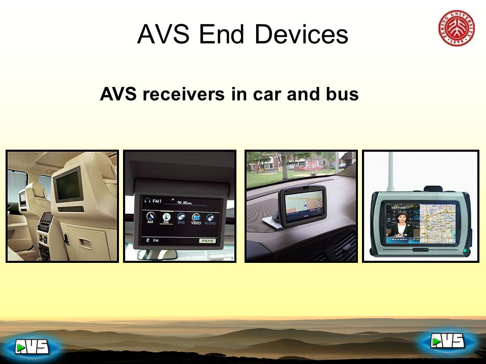 AVS receivers in car and bus AVS End Devices