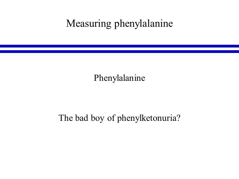Measuring phenylalanine optimal phenylalanine control