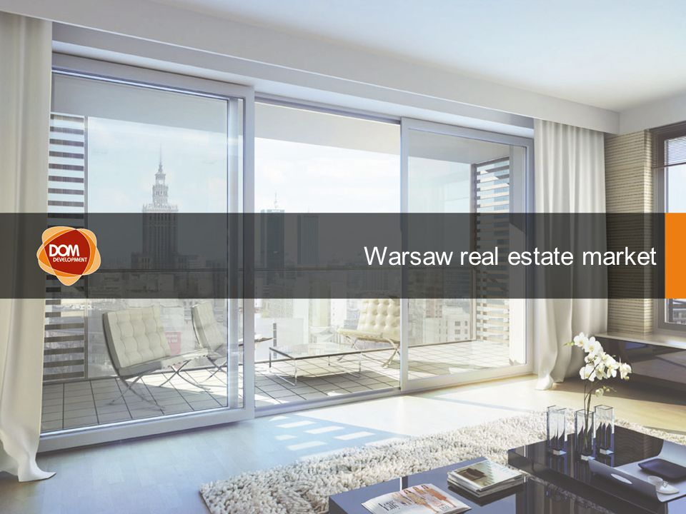 Presentation of 1st Quarter 2008 Consolidated Results AGENDA Warsaw real estate market
