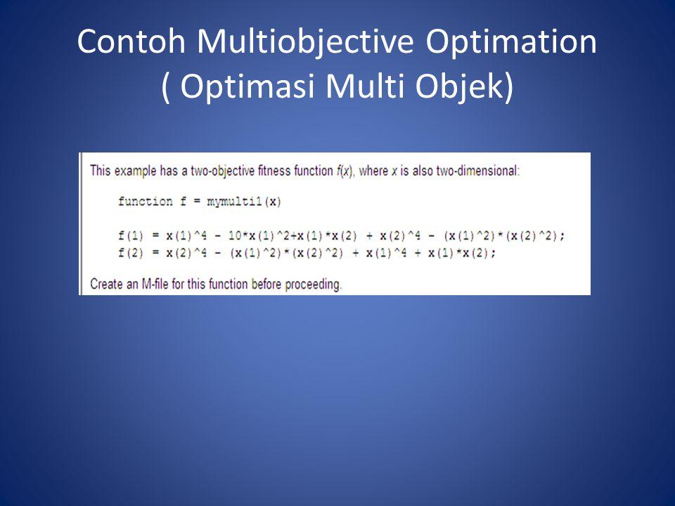 Contoh Multiobjective Optimation ( Optimasi Multi Objek)