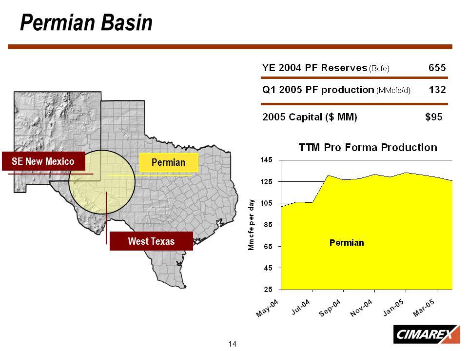 14 Permian Basin Permian SE New Mexico West Texas