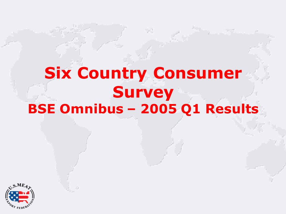 Six Country Consumer Survey BSE Omnibus – 2005 Q1 Results