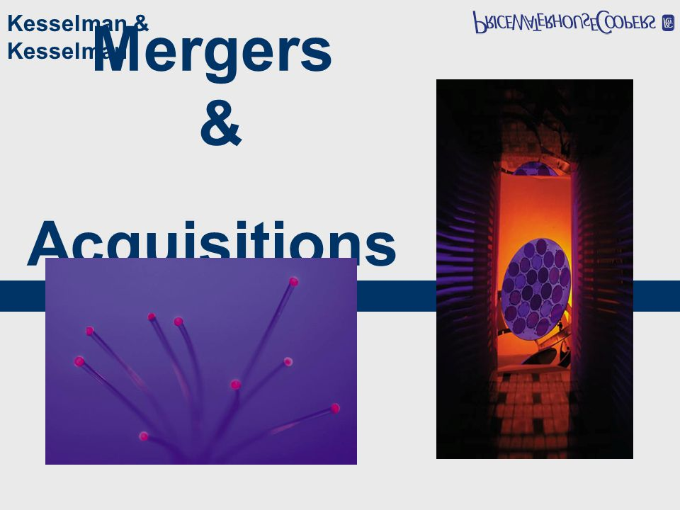 Mergers & Acquisitions Kesselman & Kesselman