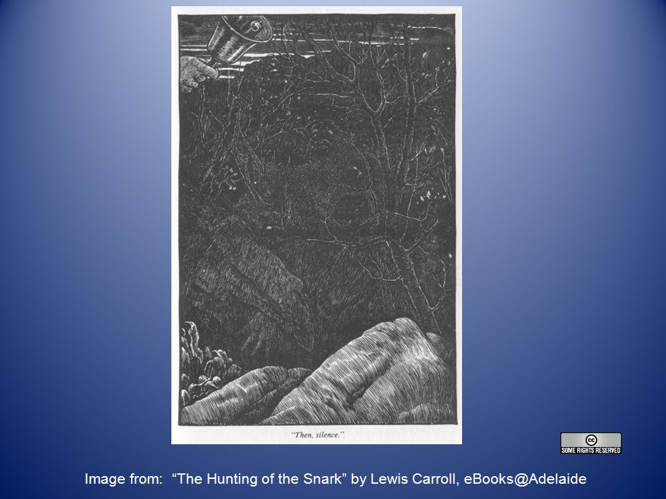 Questions Image from: The Hunting of the Snark by Lewis Carroll, eBooks@Adelaide