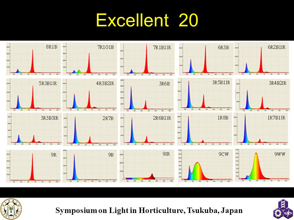 Symposium on Light in Horticulture, Tsukuba, Japan Excellent 20