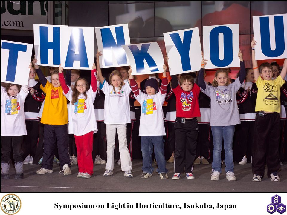 Symposium on Light in Horticulture, Tsukuba, Japan