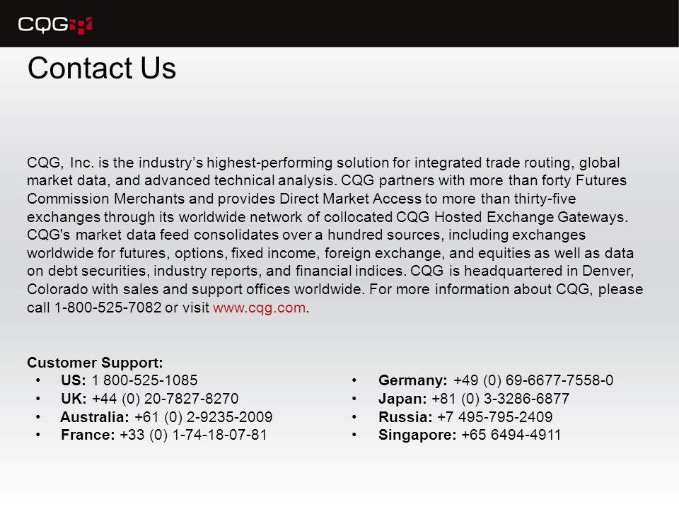 Contact Us CQG, Inc.