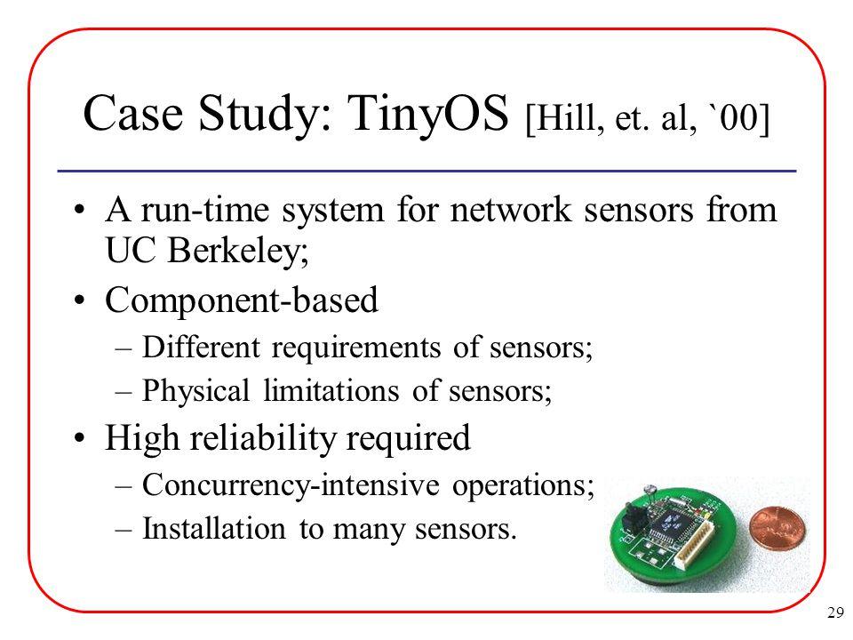 29 Case Study: TinyOS [Hill, et.