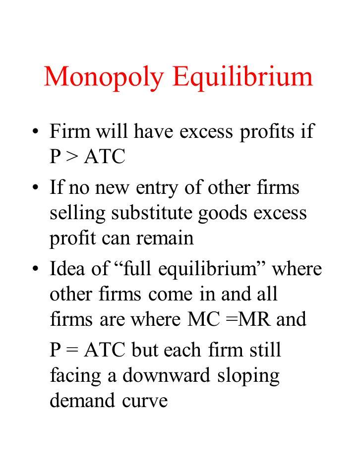 Price Discrimination Perfect price discrimination –D curve becomes the MR curve –No restriction of output D=MR MC Q P Q Total revenue