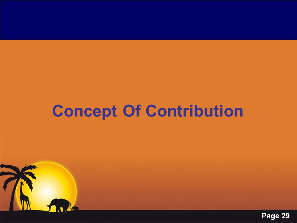 Page 29 Concept Of Contribution