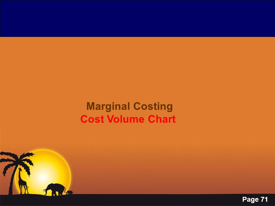 Page 71 Marginal Costing Cost Volume Chart