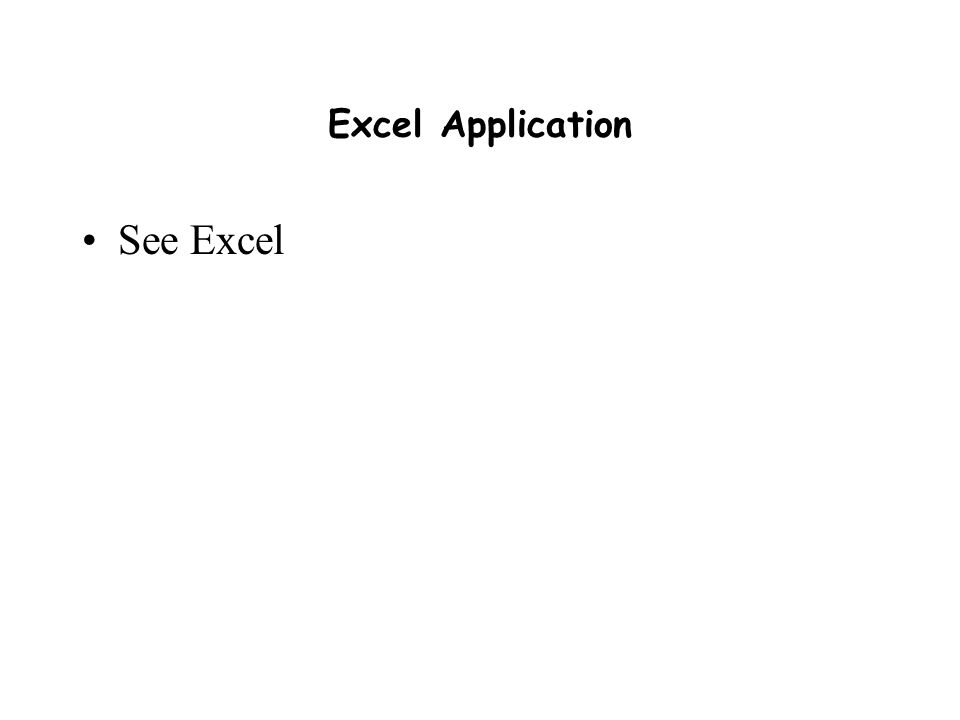 Excel Application See Excel