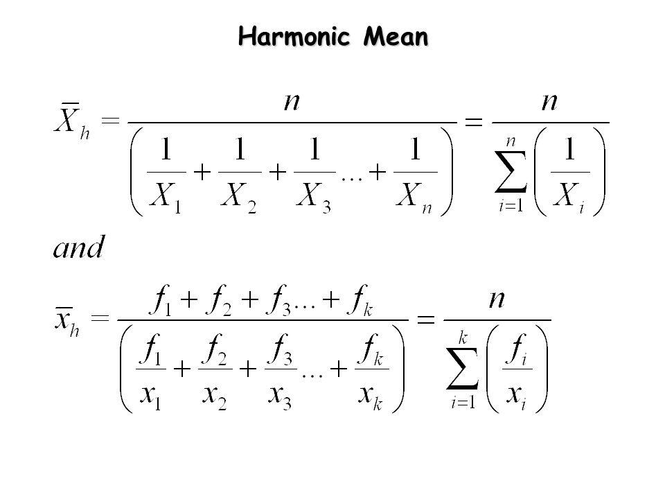 Quadratic Mean (Mean Square Value) X t X1 X2 Xi Xn