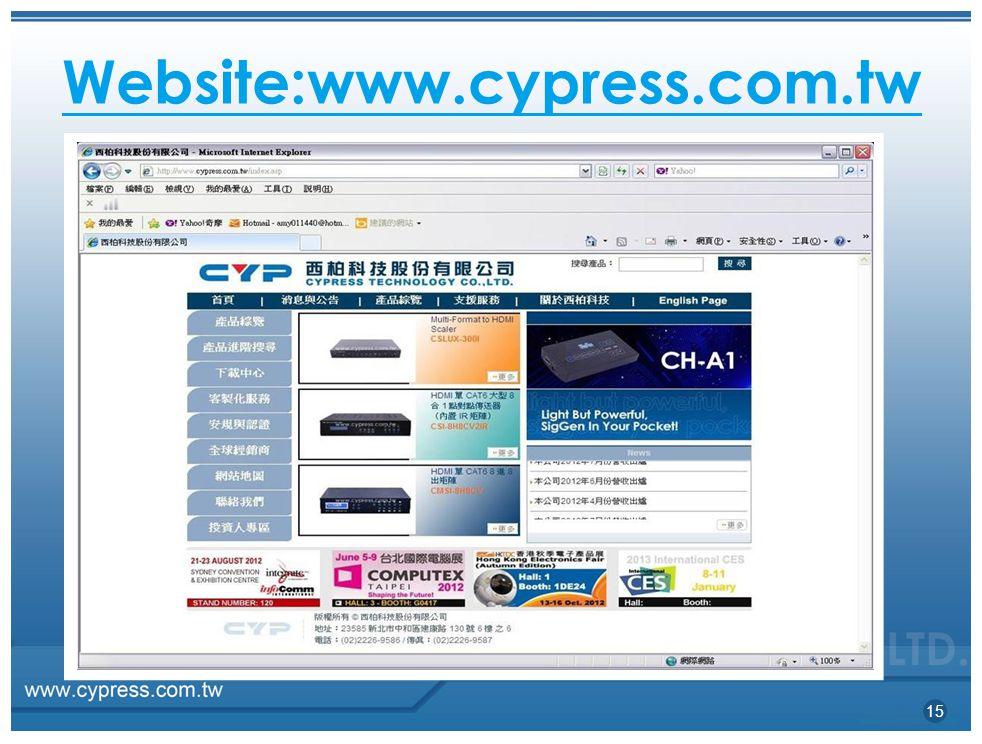 Website:www.cypress.com.tw 15