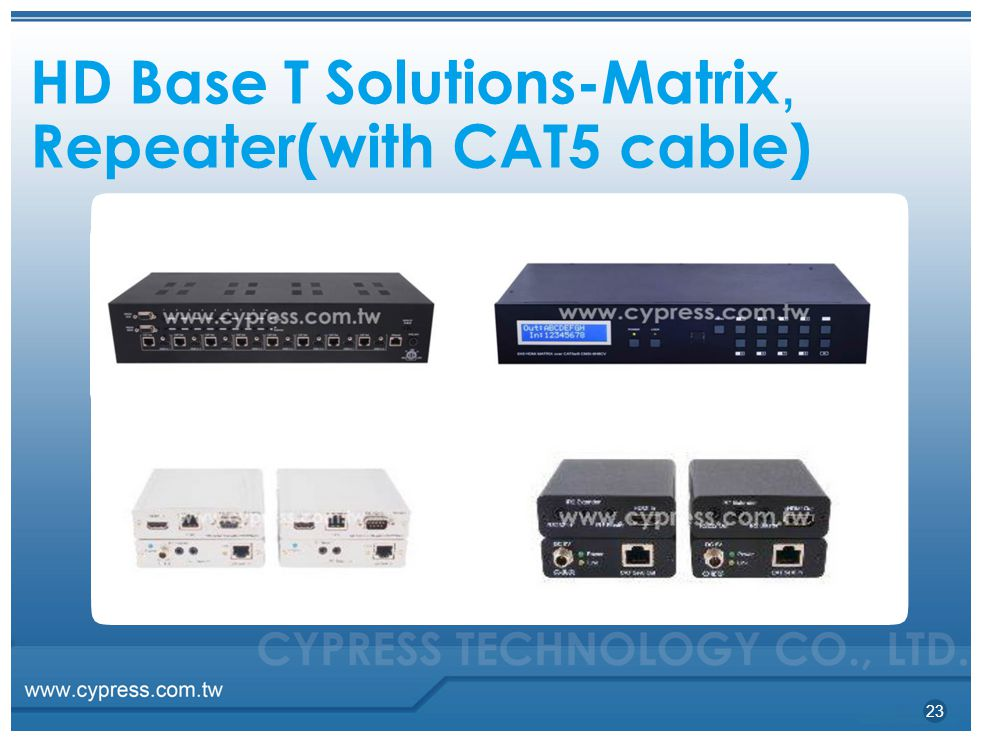 HD Base T Solutions-Matrix, Repeater(with CAT5 cable) 23