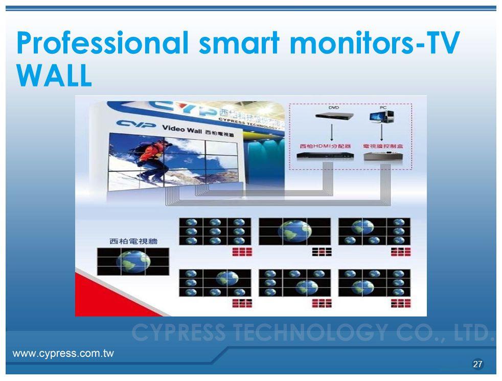 Professional smart monitors-TV WALL 27