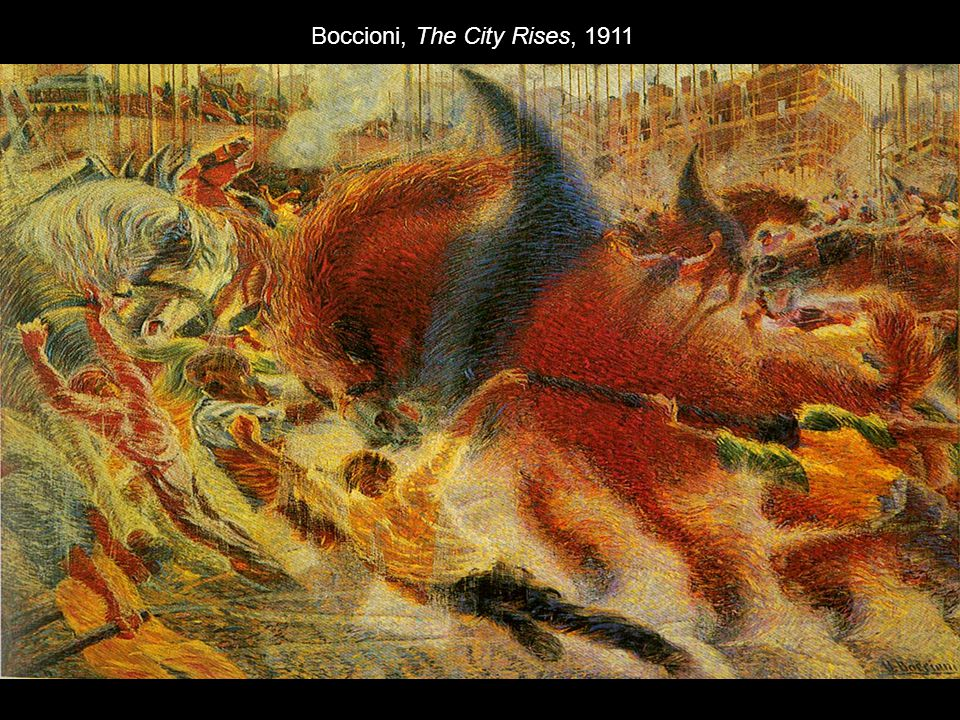 Boccioni, The City Rises, 1911