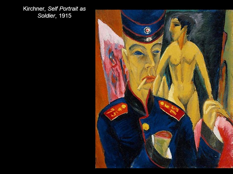 Kirchner, Self Portrait as Soldier, 1915