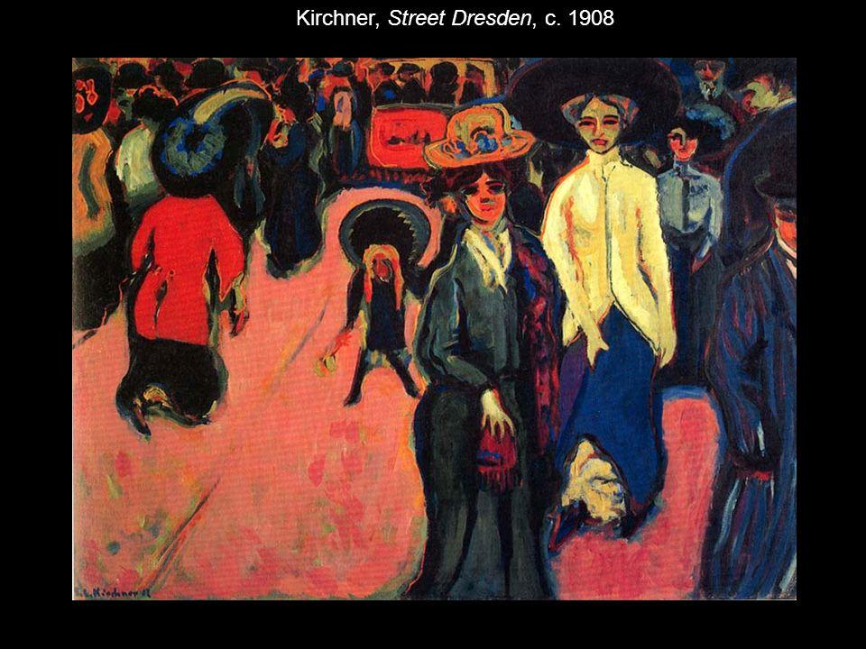 Kirchner, Street Dresden, c. 1908