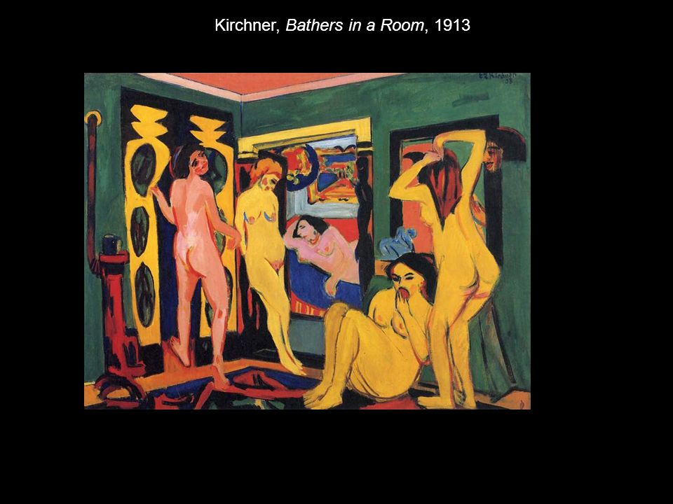 Kirchner, Bathers in a Room, 1913