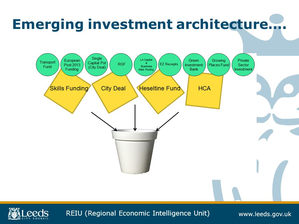 REIU (Regional Economic Intelligence Unit) Emerging investment architecture….