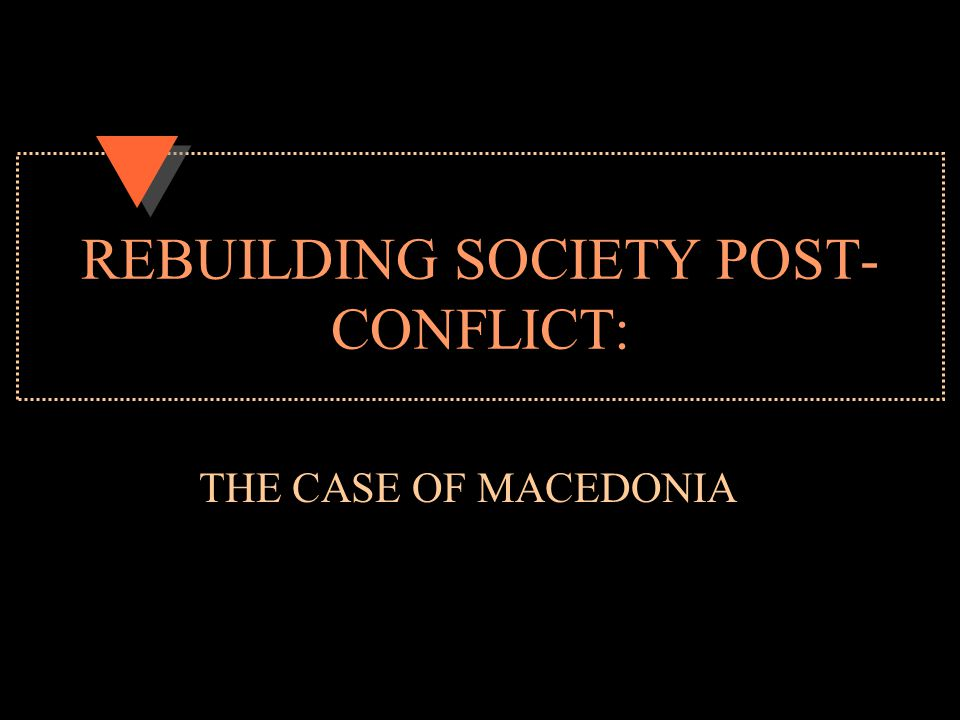 Key highlights of the presentation Macedonia as a successful story of the Western Balkans Socio-economic problems endanger ethnic relations: Macedonia at a turning point, EU attention needed?