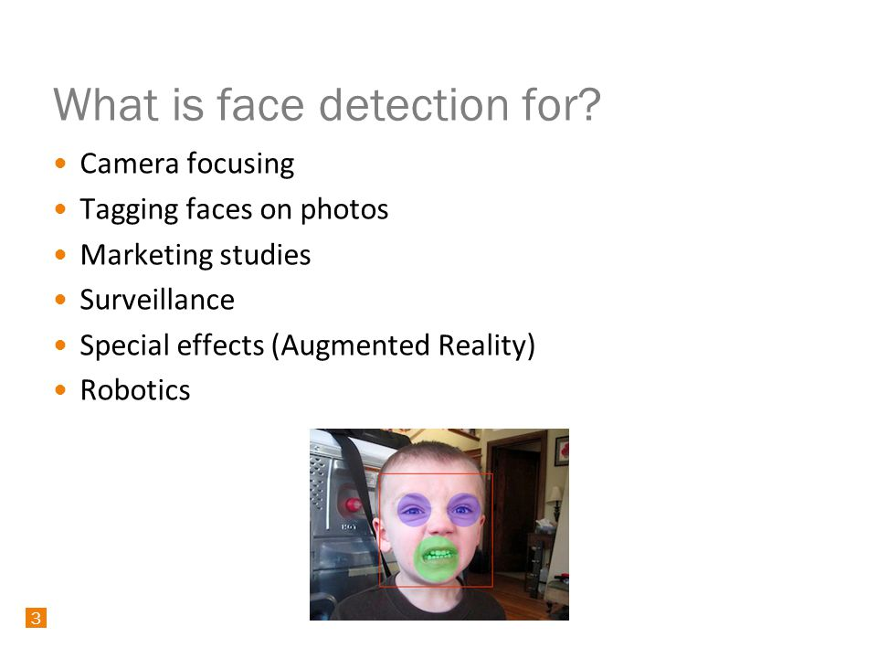 24 Android SDK Face Detection 24 class MyFaceDetectionListener implements Camera.FaceDetectionListener { public void onFaceDetection(Face[] faces, Camera camera) { int i = 0; for (Face face : faces) { Log.i( FD , face detected: + (++i) + of + faces.length + X: + faces.rect.centerX() + Y: + faces.rect.centerY()); }