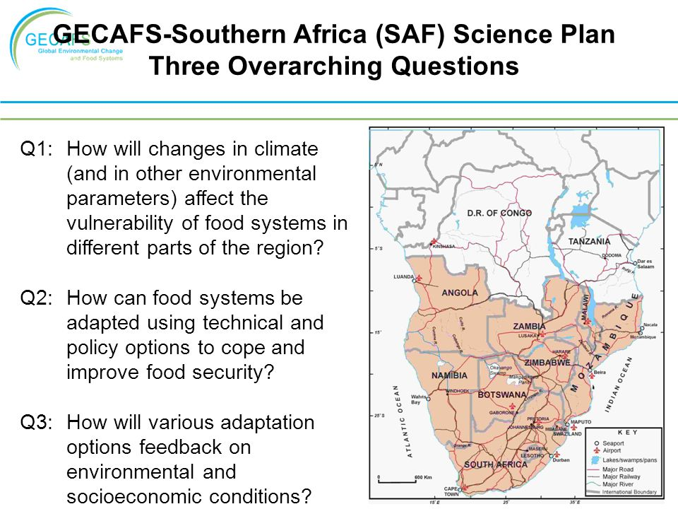 Q1: How will changes in climate (and in other environmental parameters) affect the vulnerability of food systems in different parts of the region.