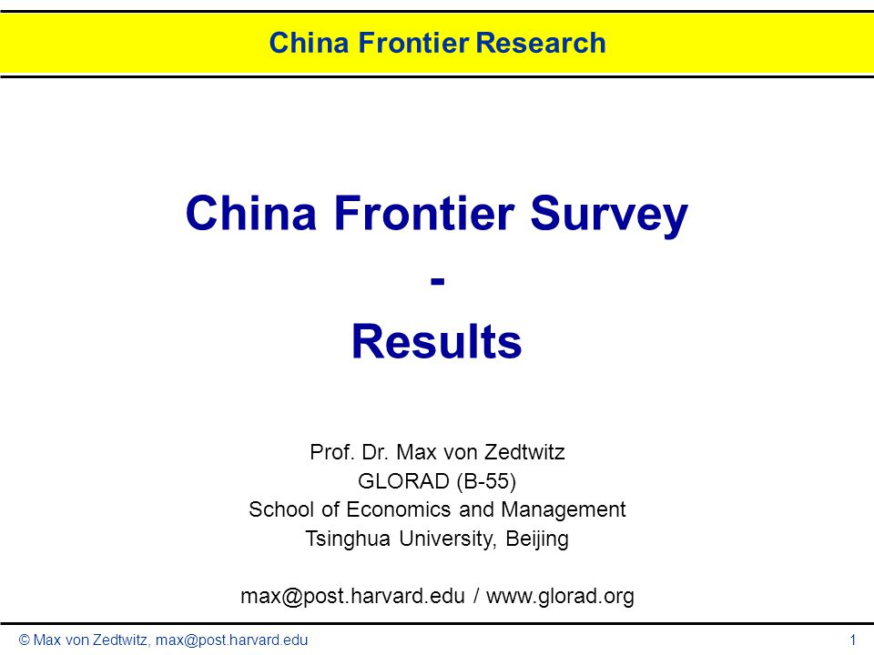 © Max von Zedtwitz, max@post.harvard.edu Q5: Key Priorities: Difficulties 12 What are major difficulties in Europe-Chinese collaborations.