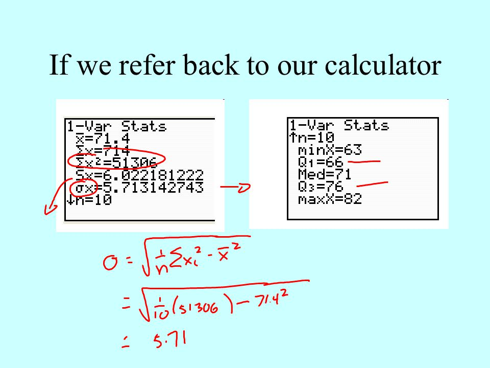 If we refer back to our calculator