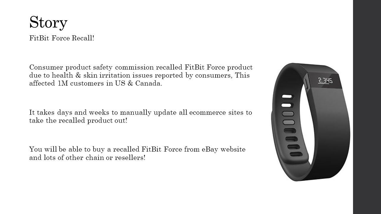 Story FitBit Force Recall.