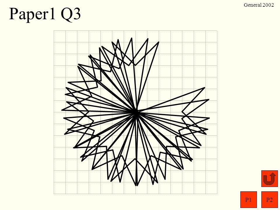P1P2 General 2002 Paper1 Q2 (a) (b) New total =14
