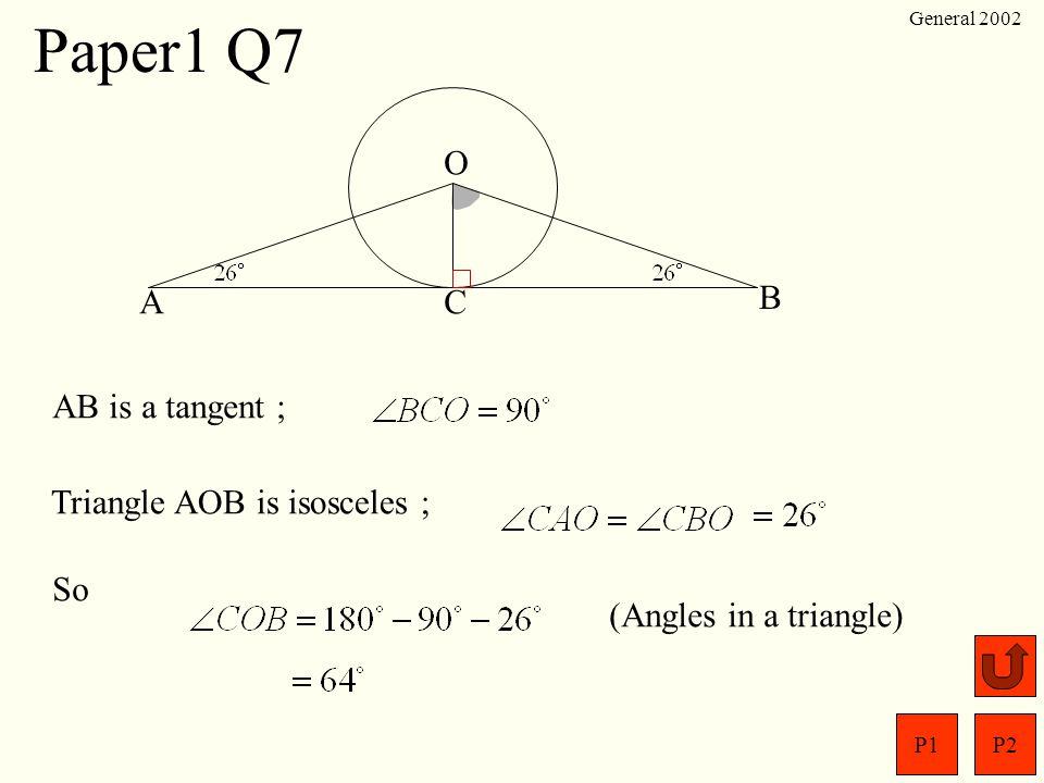 P1P2 General 2002 Paper1 Q6 Change into decimals to compare.