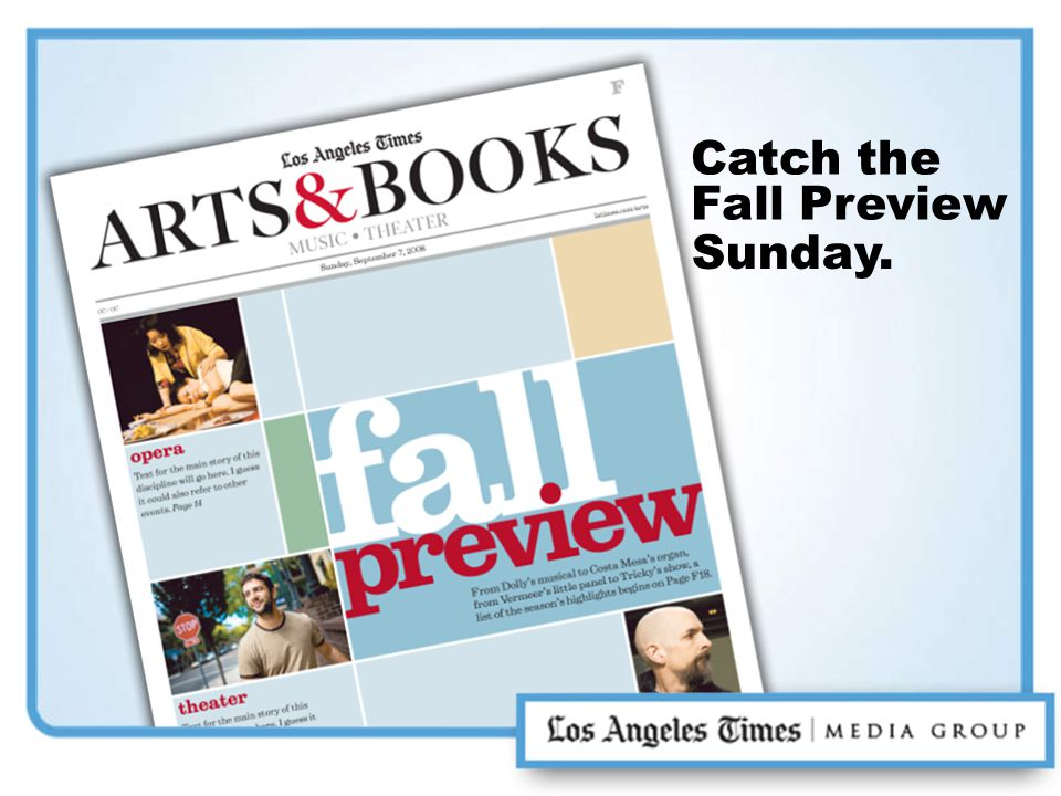 Catch the Fall Preview Sunday.