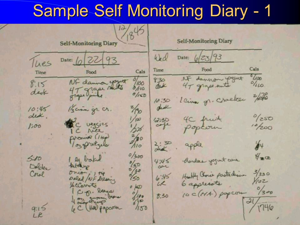 Self-Monitoring Diary