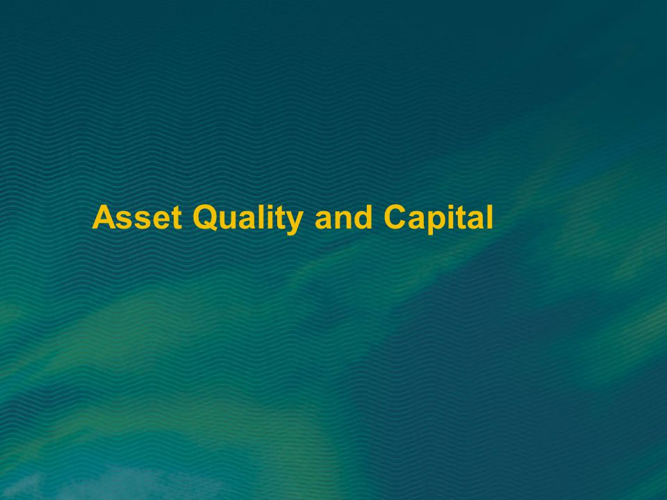 Asset Quality and Capital