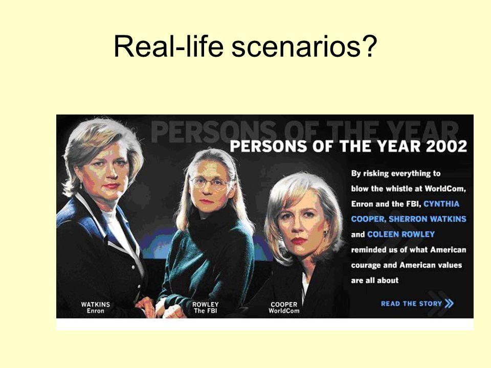 Real-life scenarios