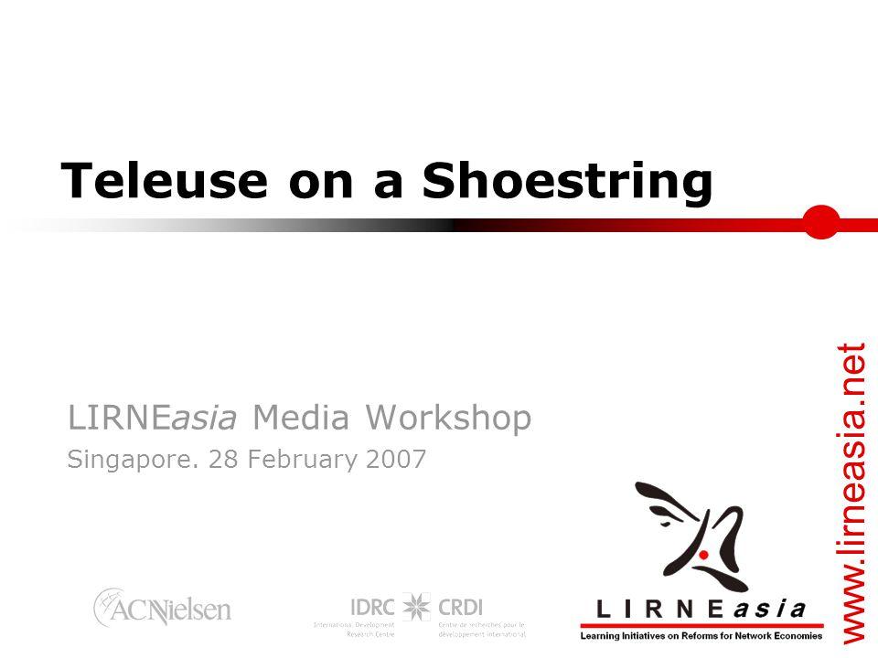 www.lirneasia.net Agenda  Research methodology & key findings: Harsha de Silva  The SMS story and others Lorraine Carlos Salazar  The next billion customers Ayesha Zainudeen