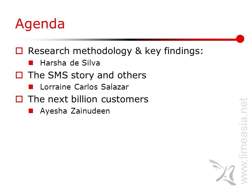 www.lirneasia.net Research Methodology and Key Findings Harsha de Silva desilva@lirne.net