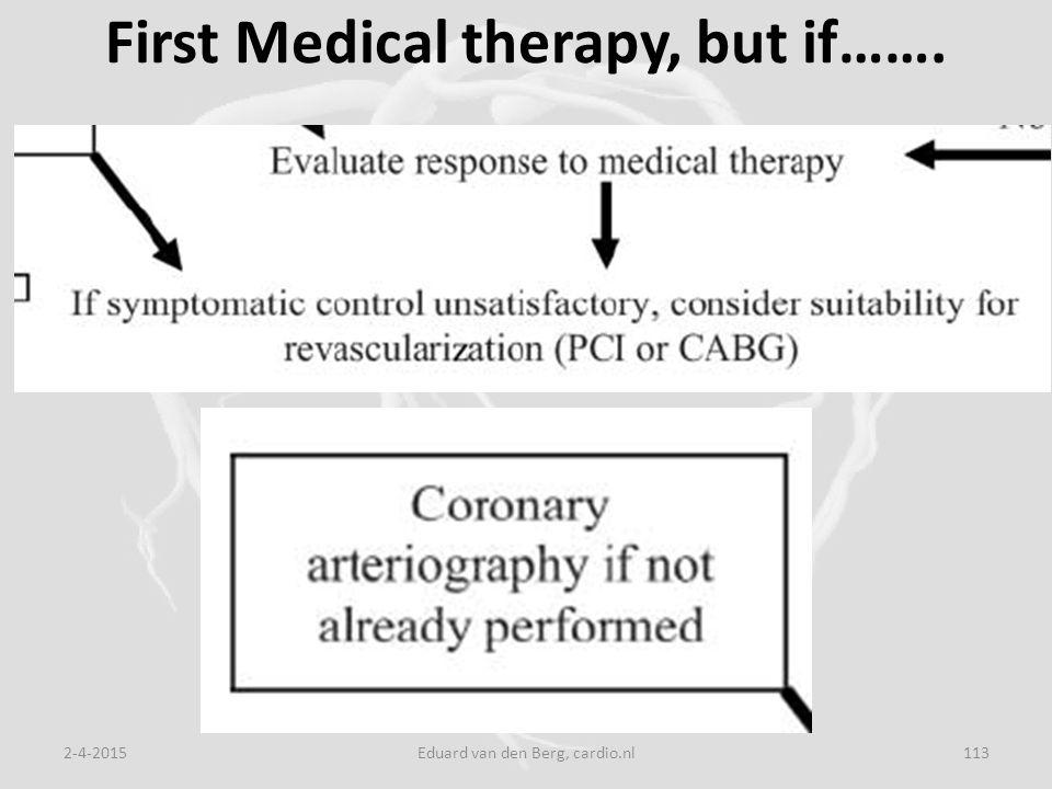 First Medical therapy, but if……. 2-4-2015Eduard van den Berg, cardio.nl113