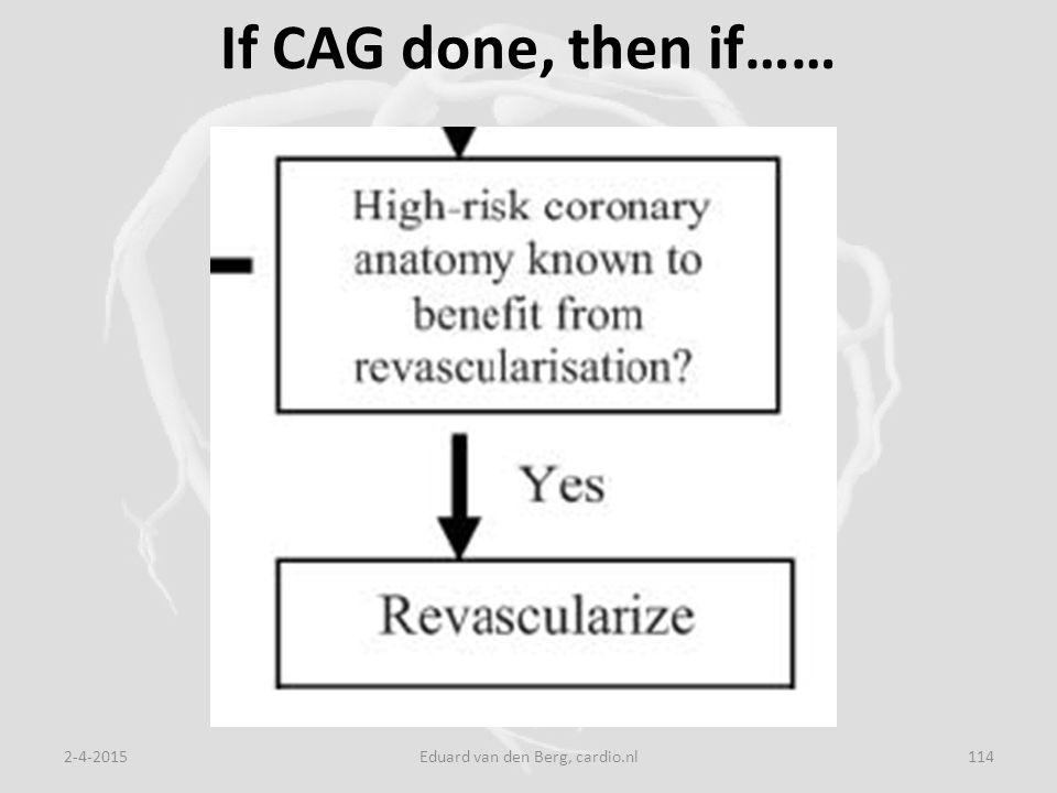 If CAG done, then if…… 2-4-2015Eduard van den Berg, cardio.nl114
