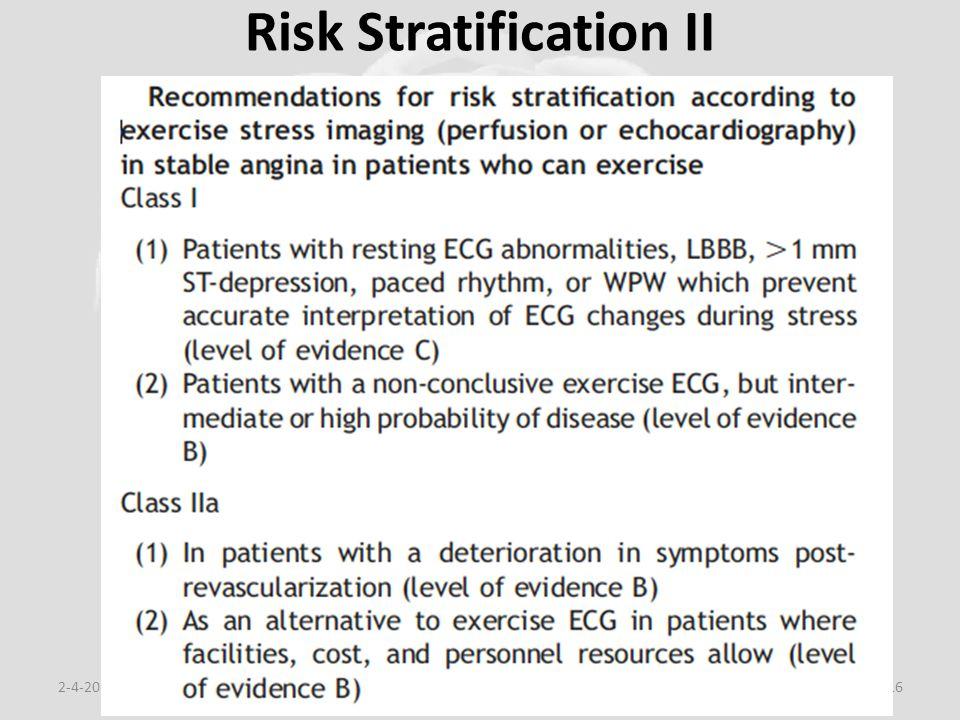 Risk Stratification II 2-4-2015Eduard van den Berg, cardio.nl116