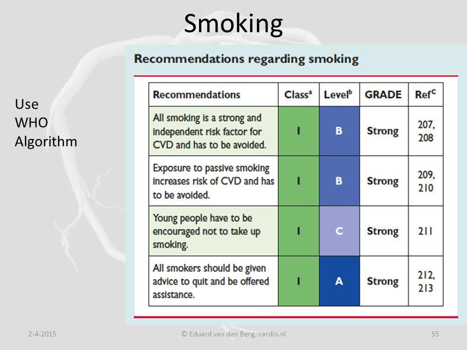 Smoking 2-4-2015© Eduard van den Berg, cardio.nl55 Use WHO Algorithm