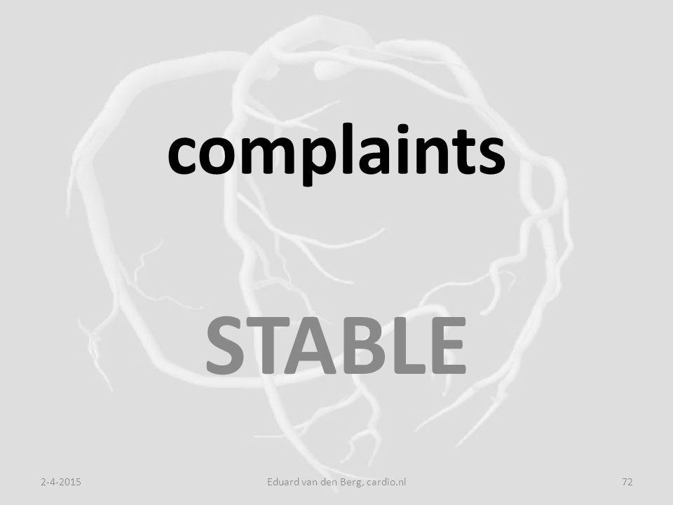 complaints STABLE 2-4-2015Eduard van den Berg, cardio.nl72