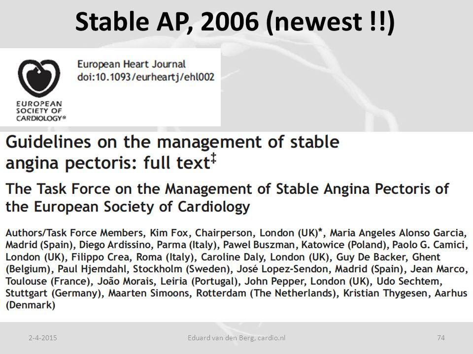 Stable AP, 2006 (newest !!) 2-4-2015Eduard van den Berg, cardio.nl74