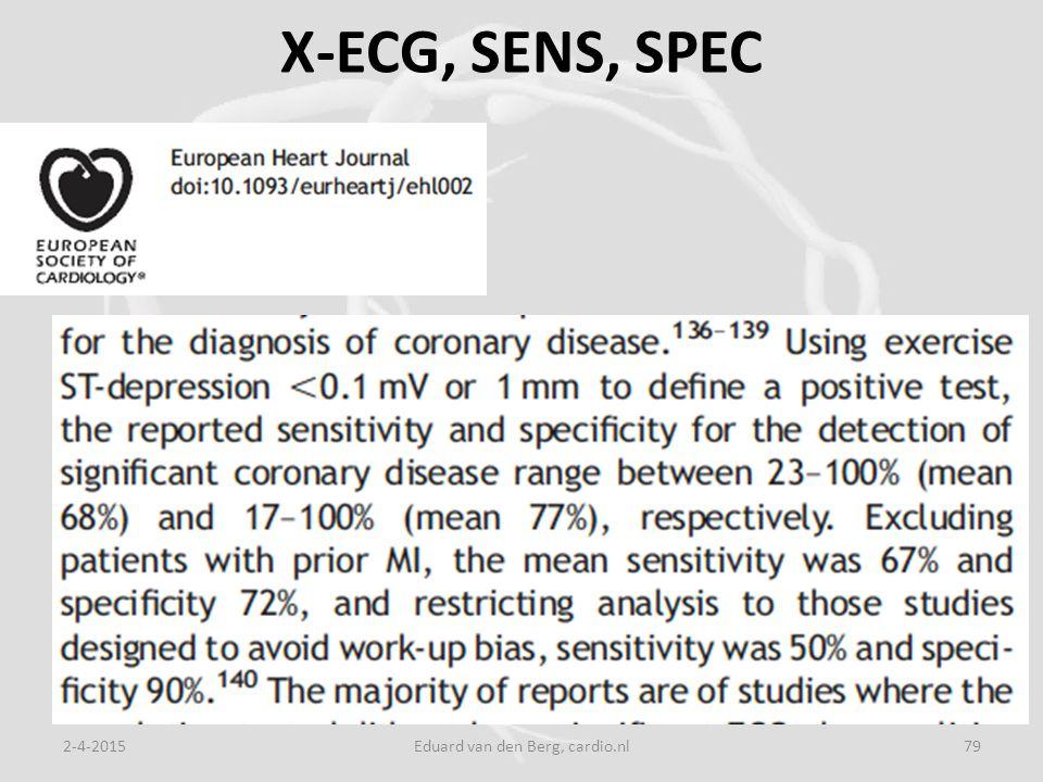 X-ECG, SENS, SPEC 2-4-2015Eduard van den Berg, cardio.nl79