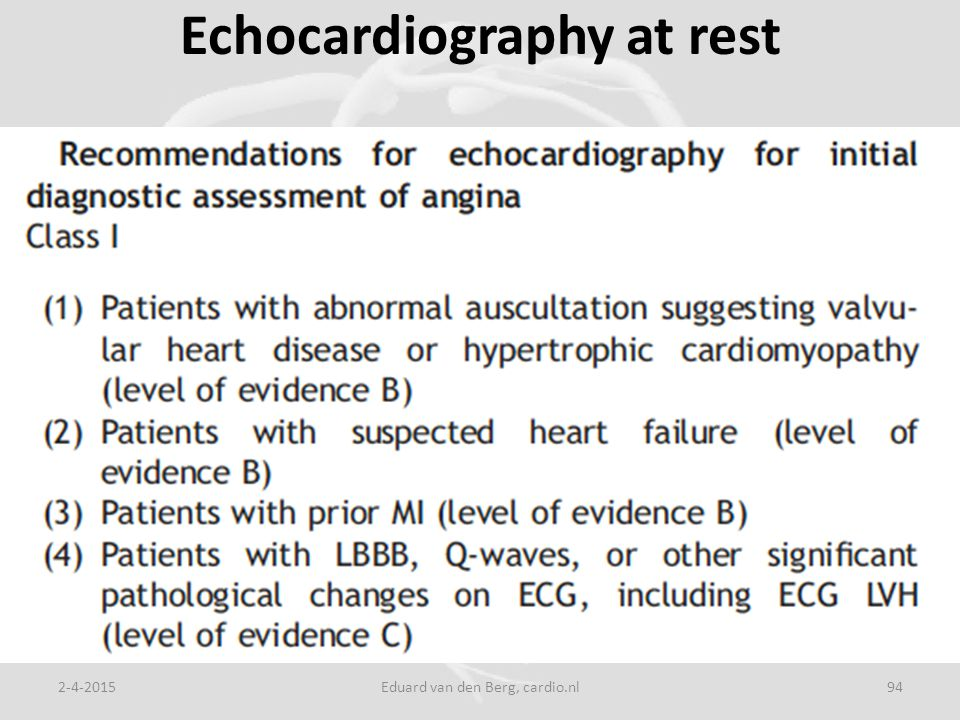 Echocardiography at rest 2-4-2015Eduard van den Berg, cardio.nl94