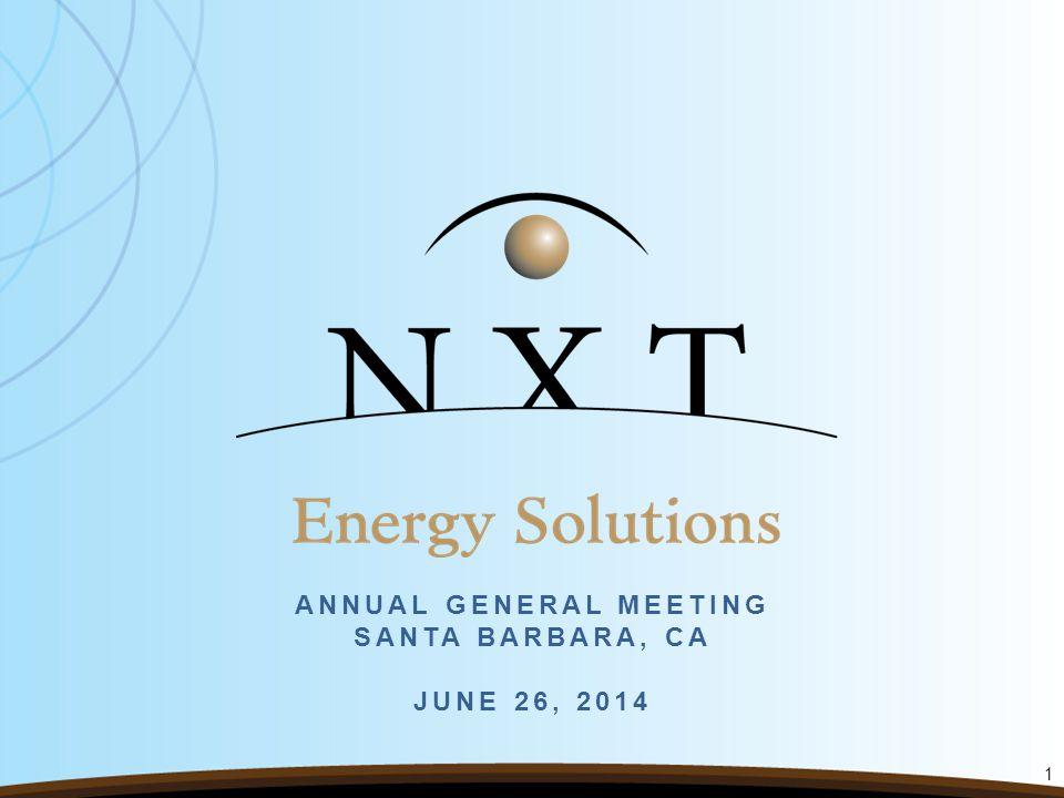 ANNUAL GENERAL MEETING SANTA BARBARA, CA JUNE 26, 2014 1