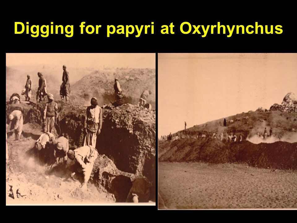 Digging for papyri at Oxyrhynchus